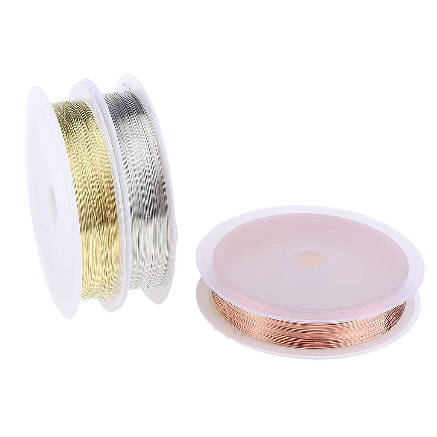 決定する宇宙枯れるB Blesiya 3本 銅製 ネイル ライン DIY 銅ラインロール ストライピングテープライン