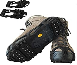 Limm Crampons Ice Traction Cleats Medium - Lightweight Traction Cleats for Walking on Snow & Ice - Anti Slip Shoe Grips Quickly & Easily Over Footwear - Portable Ice Grippers for Shoes and Boots