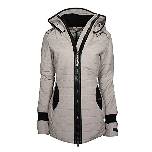 khujo Damen Midd Jacke, Grau (Dove 257), Medium