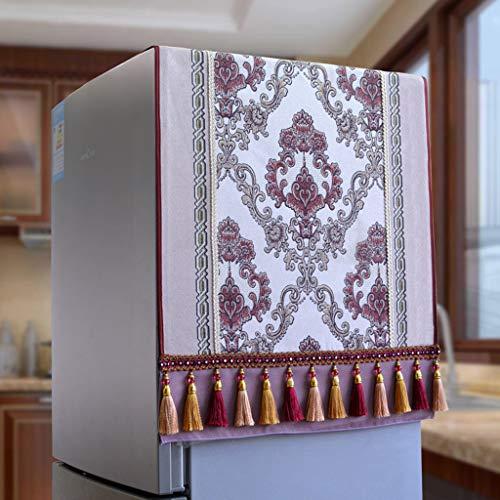 MENUDOWN Kühlschrank Staubschutz,Retro Kühlschrank Staubdichtes Tuch/Antifouling Geeignet für Mikrowellenherd, Ofen, Einzel- / Doppeltürkühlschrank, Waschmaschine,I-60 * 160cm