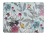 Creative Tops Cork-Backed Placemats / Table Mats with Printed 'Butterfly' Design, Rectangular, Teal, 30 x 23...