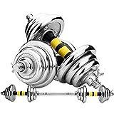 Levantamiento de Pesas Mancuernas y Barras 10-30 Kg Set for Hombres y Mujeres de Fitness con Mancuernas Conjunto con la biela Puede ser Utilizado como una Barra (tamaño : 15kg/33lb)