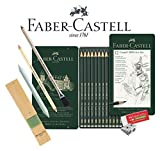 Faber-Castell 119065 Castell 9000 Lot de 12 crayons de papier 8B - 2H, Assortiment de base 8b - 2h., Graphit-Kunst-Set