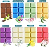 YUCH Wax Melts Air Freshener - Highly Scented Luxury Wax Cubes Gift Set - 8 Fragrances X 6 Cubes - Smells Great - Lemon, Fig, Lavender, Spring Fresh,Rose ,Jasmine,Vanilla,Bergamot