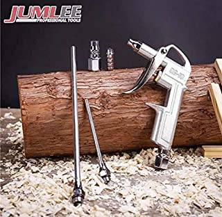 JUMLEE Air Blow Gun, Dust Cleaning, High Volume Alluminum Professional Series with Variable and Adjustable Air Flow Trigger, Industrial Household Pneumatic Air Compressor Accessory Tool Quick Connect.