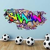 Wall Smart Designs Multi Farbige Personalisierter Ziegel Wandaufkleber Schlafzimmer Wandbild Druck - Groß: 125cm (B) x 61cm (H)