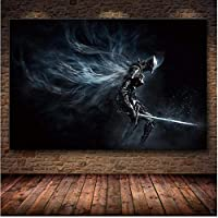 ZZFJF Diy 5D Diamond Painting By Number Kits, The Game Diamond Painting Of Soul Dark On Hd Diamond Painting And Art Prints 40x50cm