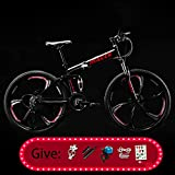 AURALLL Mountain Bikes Bicycles 21 Speeds Flying Lightweight Alloy Stronger Frame Disc Brake for Adult,Lightweight Suspension Frame,Suspension Fork,Disc Brake Child Student,Red,21 speed_26 inch