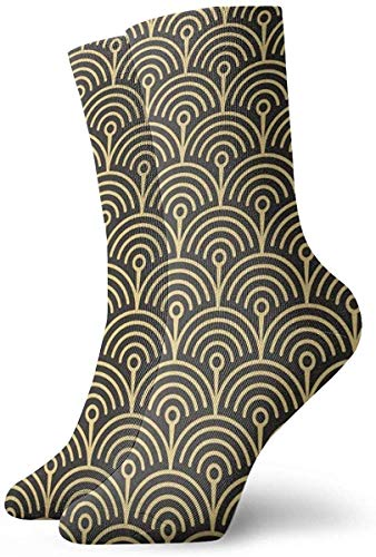 ORANGEW Template Abstract Circle Art Deco Casual Crew Socks Funny Novelty Ankle Socks Winter Socks For Men And Women - One Size Fits Most