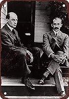 1909ライト兄弟の肖像 金属板ブリキ看板警告サイン注意サイン表示パネル情報サイン金属安全サイン