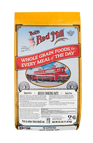 Bob's Red Mill Bulk Oats, Quick Rolled, Gluten Free, 25 Pound