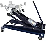 TCE TCE10001 Torin Hydraulic Roll-Under Transmission Service/Floor Jack: 1 Ton (2,000 lb) Capacity, Blue