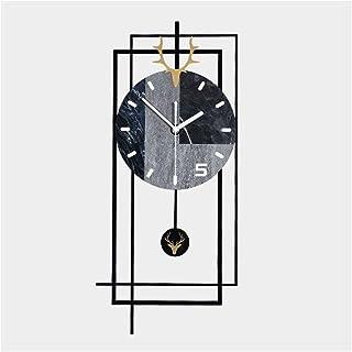 Wall Clock Non-Ticking Wall Clock الذهب فليك الغزلان رئيس الاكريليك ساعة الحائط كبيرة ساعة صامتة ساعة حائط كبيرة مع بندول ...