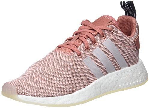 adidas NMD_R2 W, Zapatillas Mujer, Rosa (Ash Pink/Crystal White/Footwear White 0), 38 EU