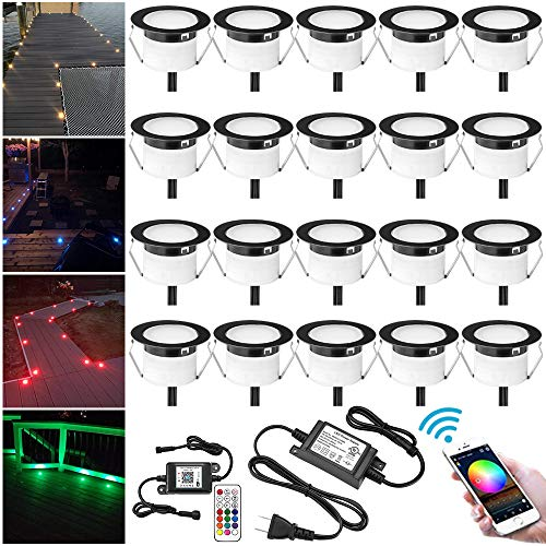 LED Deck Light Kit, 20pcs Φ1.77