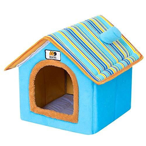 Cesta para Mascotas Hecha de Felpa 5 Colores Diferentes y 4 tamaños - Lavable y a Prueba de arañazos casa para los Perros y Gatos (Style 1, XL (50x42x50cm))