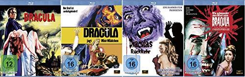 Dracula + Dracula jagt Mini-Mädchen + Wie schmeckt das Blut von Dracula + Draculas Rückkehr / 4 x 1080p FULL HD [Blu-ray Set] m