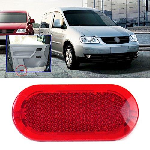 beler Red Panneau de Porte Rouge Avertisseur Réflecteur de lumière 6Q0947419 Adapté à VW Beetle Caddy Polo