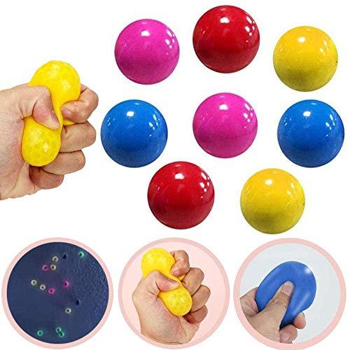 WOTOOYER Fluoreszierende Klebrige Globbles Klebriger Zielball, Matschiges Spielzeug Zum Stressabbau, Stressabbau, Klettverschluss, Aufmerksamkeits- Und Reaktionstraining (8 Stck)
