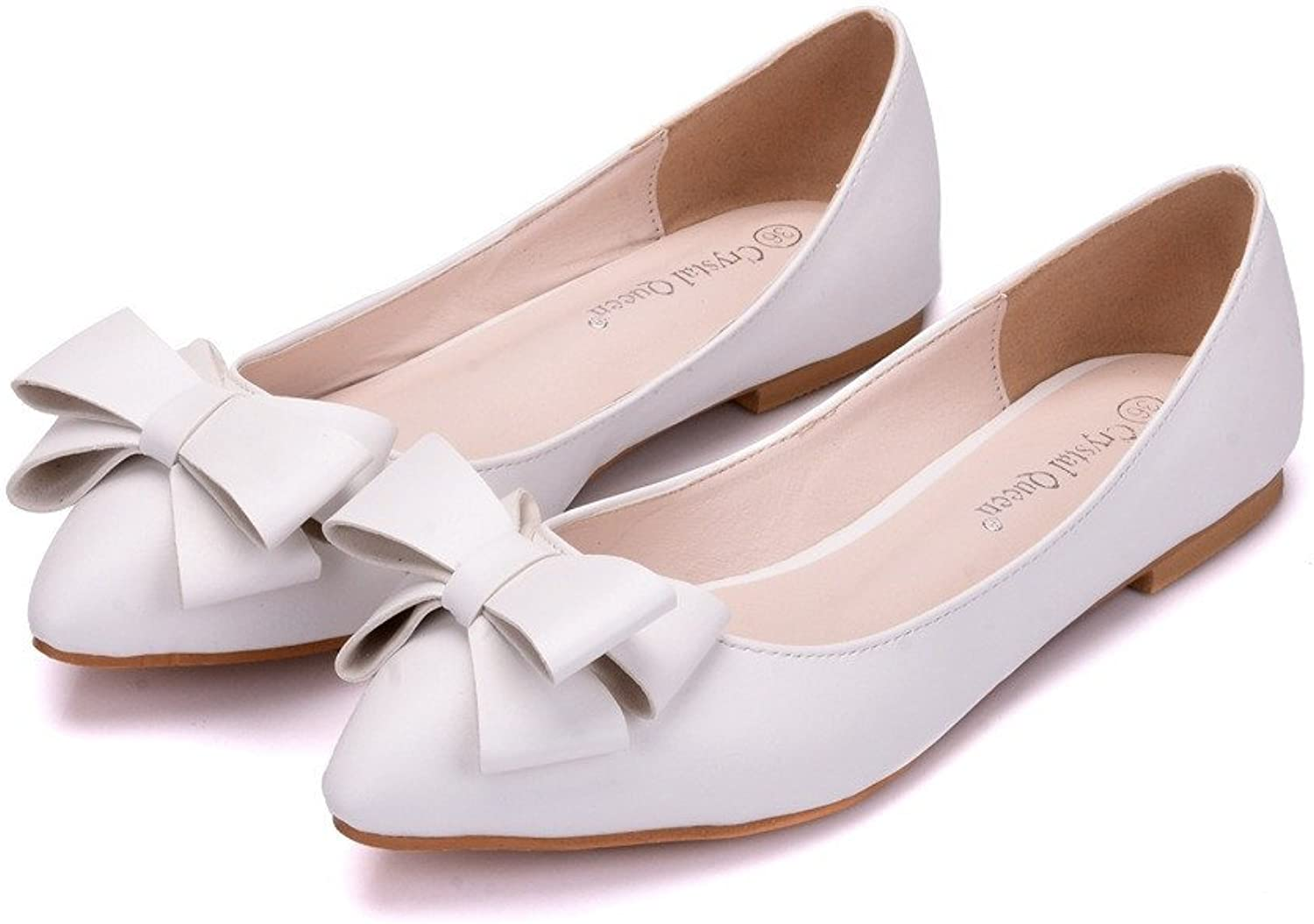 HYP Wedding Women shoes Wedding shoes Women Pumps Closed Toe Wedding Party Court shoes Bridesmaid Bridal shoes Tip with a Flat Base
