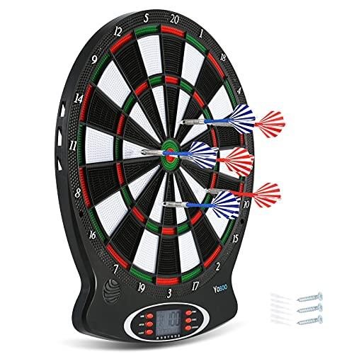 Cocoarm Dartscheibe Elektronisch Profi Elektronische Dartscheibe Target Dartscheibe Kinder Elektronische Dartboard Automatische Dartscheibe Zielscheibe mit LCD-Score-Anzeige und 6 Dartpfeile