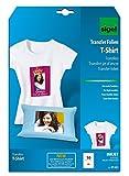 SIGEL IP651 Transferpapier Transferfolie Bügelfolie für helle Textilien & Tintenstrahldrucker, 10 Blatt A4