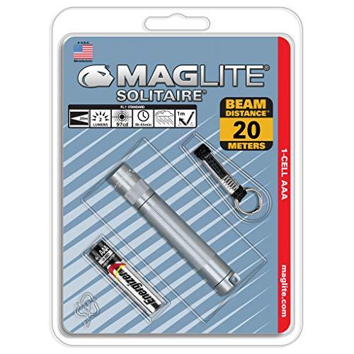 Mag-Lite K3A096 Solitaire - Linterna mini con enganche para llavero (8 cm,...