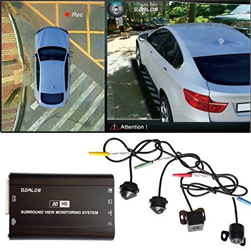 Birds Eye Car Camera SZDALOS HD 3D 360° Car Surround View System, 4 Camera DVR HD 1080P Recorder/Parking Monitoring