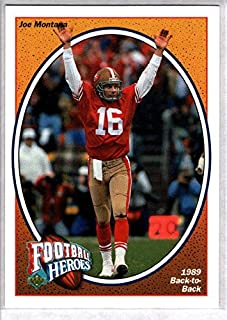 joe montana football heroes card
