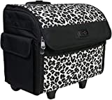 Best Premier Rolling Machines - Everything Mary Collapsible Cheetah Print Rolling Sewing Machine Review