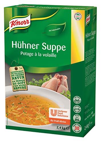 Knorr Hühner Suppe mit Nudeln (runder Geschmack, reichlich Einlage) 1er Pack (1 x 2,4kg)