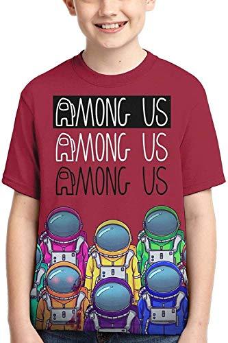 XCNGG Niños Tops Camisetas Am-ong Us Kids Shirt 3D Print T Shirts Fashion Graphics Tops tee for Girls and Boys