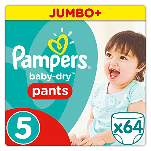 Pampers Baby-Dry Pants Größe 5 (Junior) 12-18 kg, 1er Pack (1 x 64 Windeln)