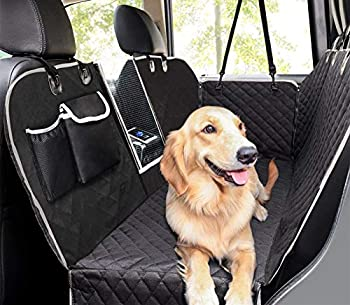 Pecute Dog Seat Cover 100% Waterproof Car Seat Covers for Pets Back Seat Cover with Mesh Window Scratch Proof Non Slip Dog Car Hammock Dog Backseat Cover for Cars Trucks SUV