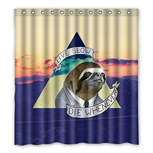 Dalliy Brauch Faultier-Tier Wasserdicht Polyester Shower Curtain Duschvorhang 167cm x 183cm