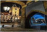 1000 piezas-Reloj astronómico de Praga en la noche Rompecabezas de madera DIY Rompecabezas educativos para niños Regalo de descompresión para adultos Juegos creativos Juguetes Rompecabezas 8