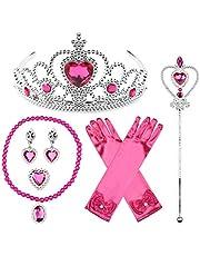 JerrisApparel Prinses Accessoires Sets Verjaardag Partij Kostuum Sets voor Meisjes (Gemiddeld, Roze 1)