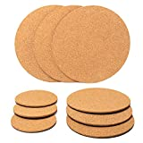 ✅ VALUE BUY : Total 9 pieces of round plant cork pads coasters, 3 pieces of 4 inch coaster, 3 pieces of 6 inch coaster, 3 pieces of 8 inch coaster, adequate quantity to cater for houseplants or office usage ✅ EXCELLENT QUALITY : These corks planter m...