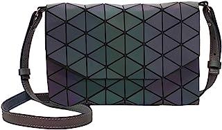 MEGAUK Damen Leuchtende Handtasche Geometrische Umhängetasche Farbänderungen Schultertasche Holographic Damentasche Hologr...