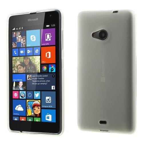 Unbekannt TPU Case Hülle zu Microsoft Lumia 535 / Dual SIM Grau Handytasche Cool Skin Handyhülle Schutzhülle Cover Schale Tasche transparent durchsichtig