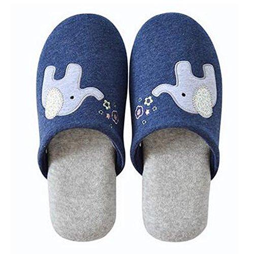 Famille d'hiver et chaleureux Chaussures Indoor Couples Maison Cartoon Slipper, B