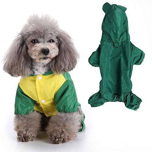 Hffheer Huisdier Regenjas Mode Leuke Huisdier Puppy Poncho Lichtgewicht Honden Katten Regenjas Huisdier Hooded Waterdichte Kleding, S