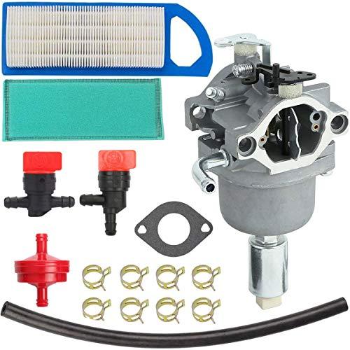 ZAMDOE 796109 Carburador para Briggs & Stratton 594593 591731 590400 796078 498811 794161 795477 14.5HP - Motor 21HP, Kit de Ajuste con Junta, Filtro de Aire, línea de Combustible