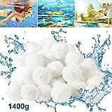 Bearbro Filtro Balls 1400g può Anziché 50 kg di Sabbia Filtrante,Sfere per Filtrazione Acqua Piscina,Palline filtranti per Piscina, può Essere riutilizzato, per Pompe Filtranti e Acquari
