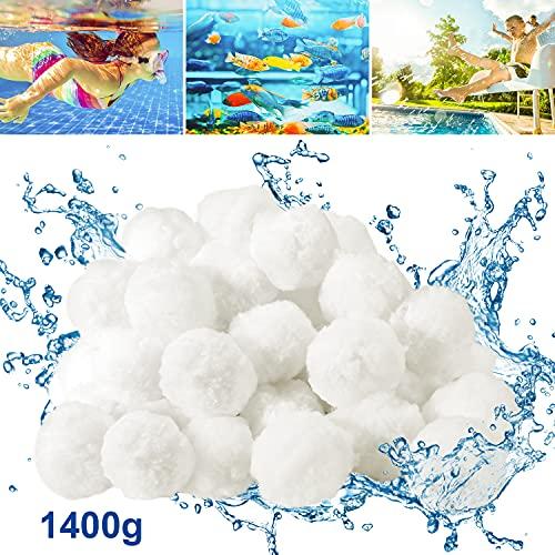 Bearbro Filter Balls,Pool Filterbälle,Filterbälle für sandfilteranlagen,Filterbälle Filtermaterial,Extra langlebige,Umweltfreundlicher,für Pool, Sandfilteranlagen,Aquarium (1400g)