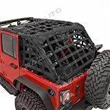 Razer Auto 4 Door Model Only Black Cargo Restraint Net System Trail Cargo Net (Black) for 07-18 Jeep Wrangler JK
