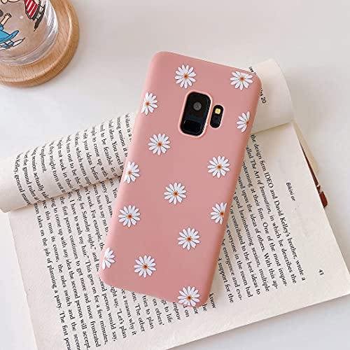 ZTOFERA Hülle für Samsung S9 Plus, Gänseblümchen Blume Design Schlank Hülle, Weich Flexibel Anti-Kratzer Bumper Schutzhülle für Samsung Galaxy S9 Plus - Rosa
