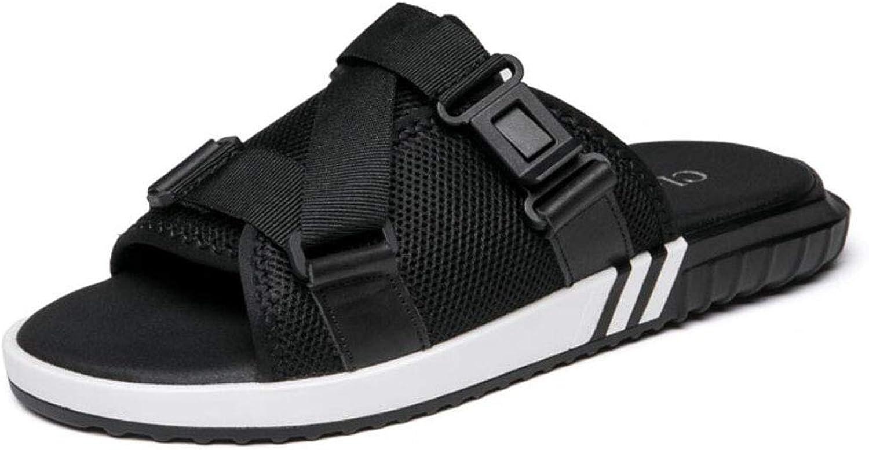 ZIXUAP Men's Slippers Summer Trend Fashion Wild Dual-use Sandals Men's Comfortable Beach shoes