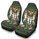 Native American Mandala - Juego de 2 fundas de asiento delantero, lavables, ajuste universal, color blanco, talla única