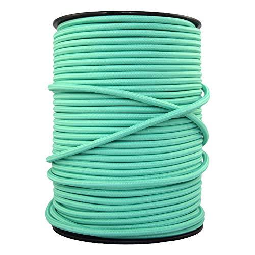 smartect Cavo elettrico Tessuto - VerdeMenta - 20 Metro cavo tessile intessuto - Tripolare (3 x 0.75mm²) - Cavo elettrico rivestito per Fai da Te